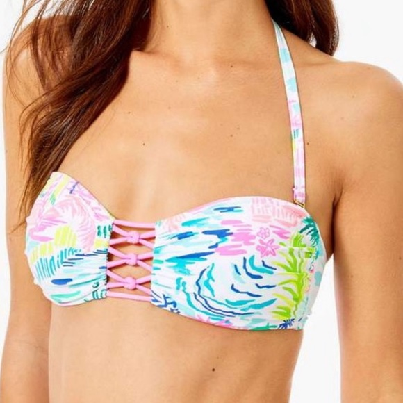Lilly Pulitzer- Bandeau Swim Top.